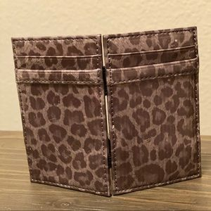 J.Crew Grey Leopard Magic Wallet